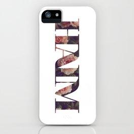 Haim floral logo iPhone Case
