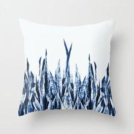 Blue Duotone Throw Pillow