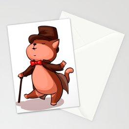 Cat gentleman Stationery Cards