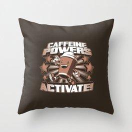 Caffeine Power Throw Pillow