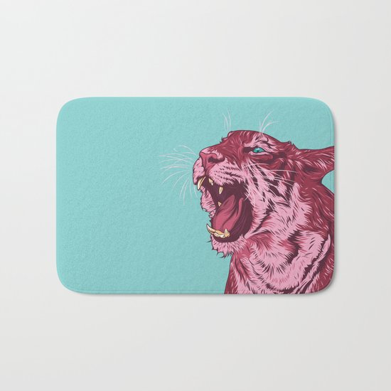 Magenta tiger Bath Mat