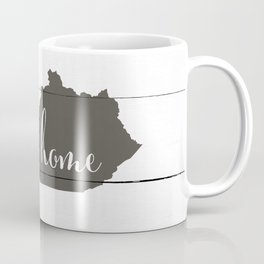 Kentucky is Home - Charcoal on White Wood Coffee Mug
