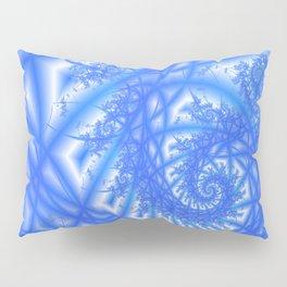 Venetian Lace in Light and Medium Blues Pillow Sham