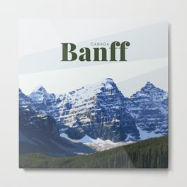 Banff Moraine Lake Canada Metal Print