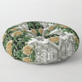 Vintage Garden Lady Floor Pillow
