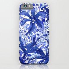 Blue flowers. iPhone 6s Slim Case