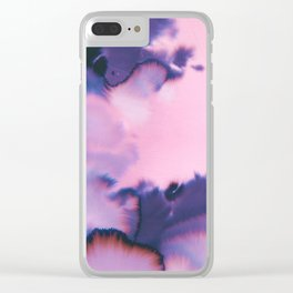 water color wave III collab Dylan Silva Clear iPhone Case