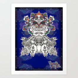 Faces Of the Psyche Art Print