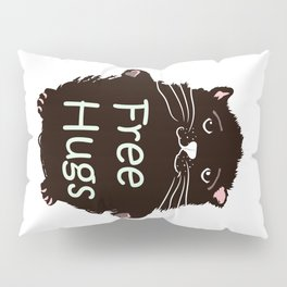 Free hugs. Cute kitty Pillow Sham