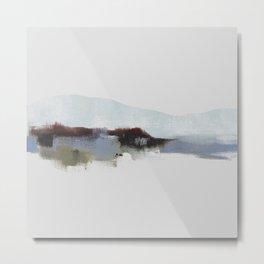 Winter Mountain Landscape, blue mountains Metal Print