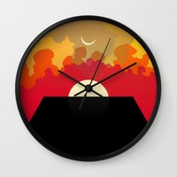 2001 Wall Clocks featuring 2001 Monolith by Andras Wobe Kocsis