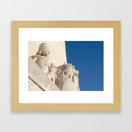 Monument of the Discoveries detail Framed Art Print