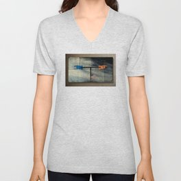 Immigration and The Wind Of Times. Unisex V-Neck