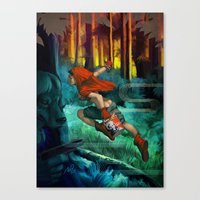 red hood Canvas Prints featuring Red Hood by Artgerm™