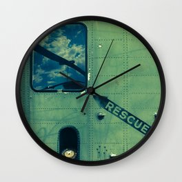 Green Rescue Decal Helicopter Instruction Wall Clock