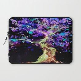 Wild Neon Apple Tree Watercolor by CheyAnne Sexton Laptop Sleeve