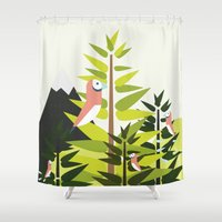 parrot Shower Curtains featuring Parrot by Chicokids