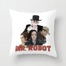 fsociety - Mr. robot Throw Pillow