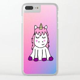 Happy Unicorn Clear iPhone Case