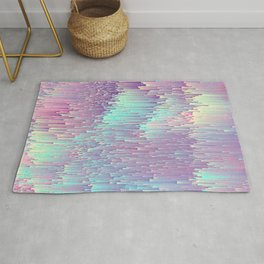 Iridescent Glitches Rug