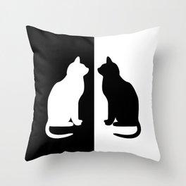 Black & White Cats Throw Pillow