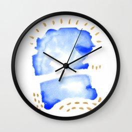 01 party dino Wall Clock