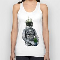 cacti Tank Tops featuring Cacti | Spaceman No:1 by FAMOUS WHEN DEAD
