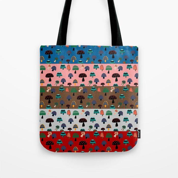 Mushroom patchwork Tote Bag