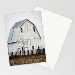 White Barn - Large Weathered Barn in Illinois Stationery Cards