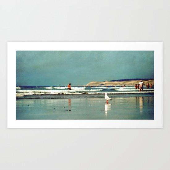 a day at the sea Art Print