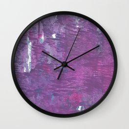 French lilac Wall Clock