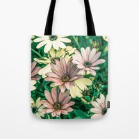 daisies Tote Bags featuring Daisies by Loredana:Flowers