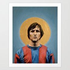 JC - Football Icon Art Print