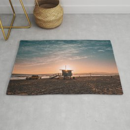 California Lifeguard Tower Rug