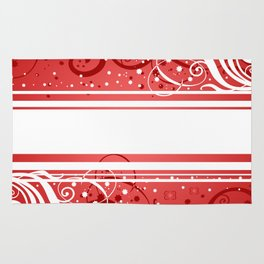 Abstract red-white background Rug