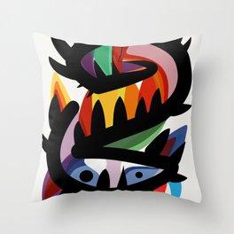 Depemiro Abstract Colorful Art Throw Pillow