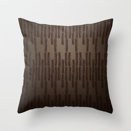 Eye of the Magpie tribal style pattern Throw Pillow