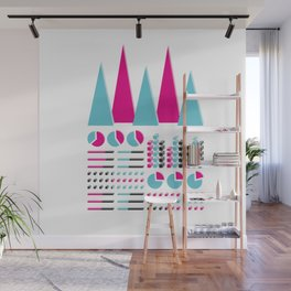 Infographic Selection Wall Mural