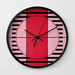 August - lined graphic Wall Clock