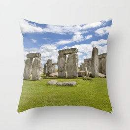 Stonehenge with Cloud Throw Pillow