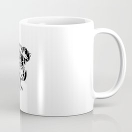 No Gate, No Lock, No Bolt in Black and White Coffee Mug