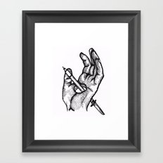 Hands of a killer  Framed Art Print