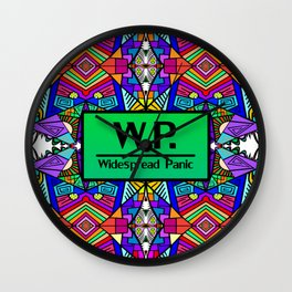 WP - Widespread Panic - Psychedelic Pattern 2 Wall Clock