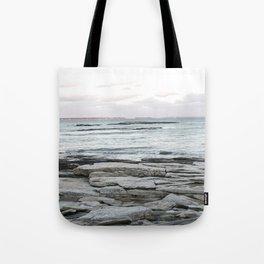 Frozen Maine Ocean Tote Bag