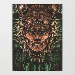 Feline human Poster