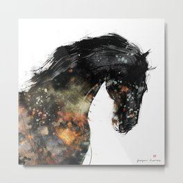 Horse portrait (Distant Galaxy) Metal Print