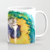 parrot Mugs featuring Parrot by jbjart