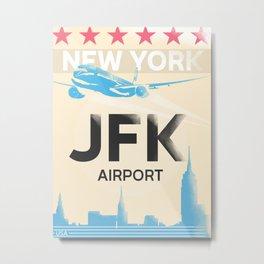 JFK stylish airport code Metal Print
