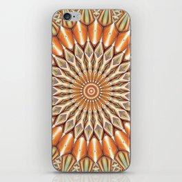 Heart of the Sunflower - Mandala Art iPhone Skin