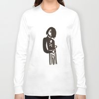 goth Long Sleeve T-shirts featuring Goth Kid by Hedgbric